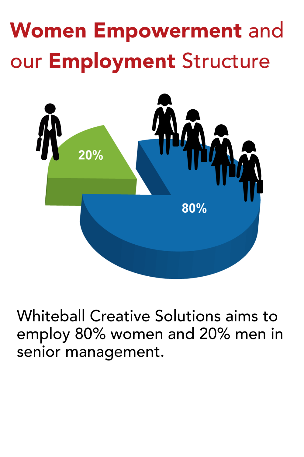 Whiteball Creative Solutions, Women Empowerment, employment, diversity, sustainability, employment structure